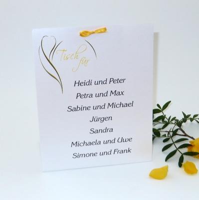 """Tischaufsteller """"Blüte gelb"""" groß"""
