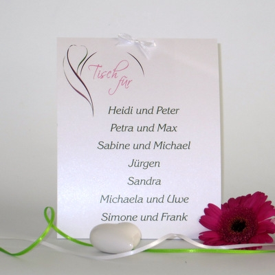 """Tischaufsteller """"Blüte pink & grün"""" groß"""