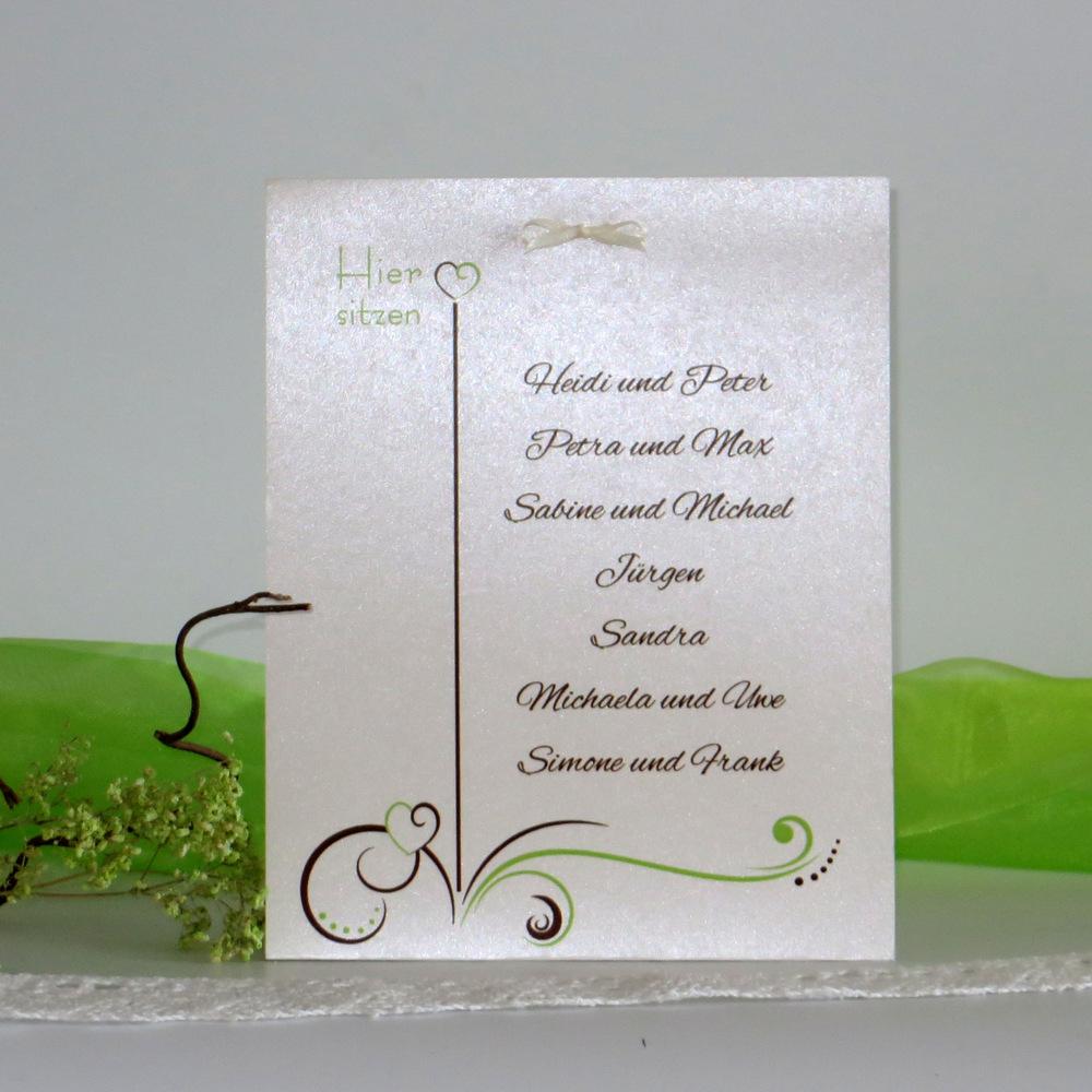 """Tischaufsteller """"Design in grün & braun"""" groß"""