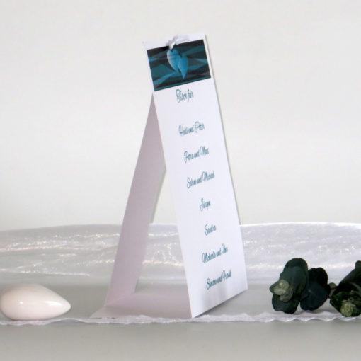 Tischaufsteller Farbenspiel türkis & schwarz groß