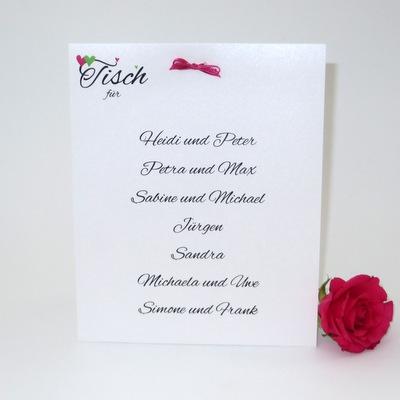 """Tischaufsteller """"Herzle"""" pink & grün - groß"""