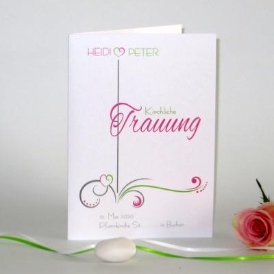 """Kirchenheftumschlag """"Design in grün & pink"""