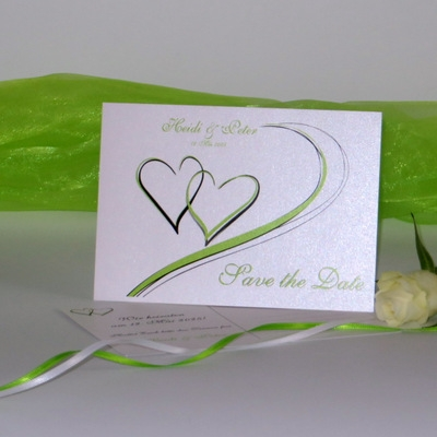 "Save the Date ""Harmonie grün"""