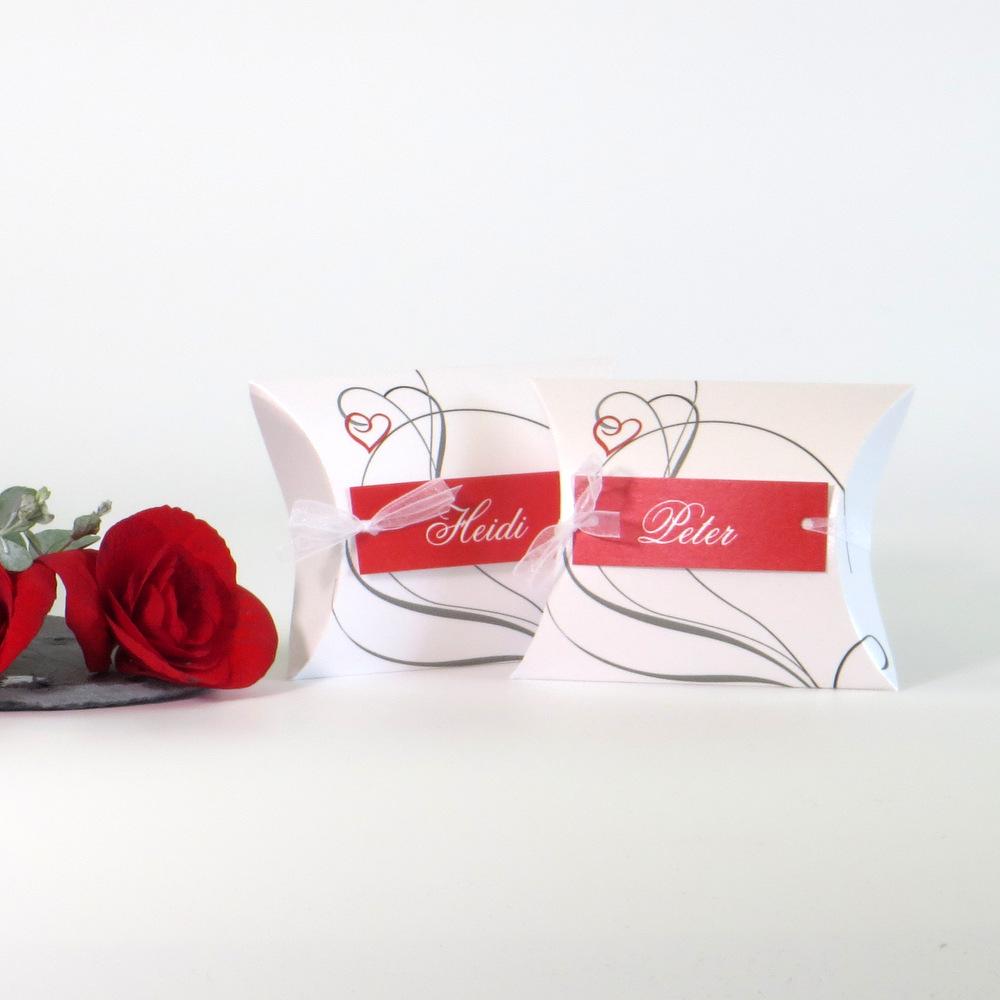 """Gastgeschenk + Tischkarte """"Red Style"""""""