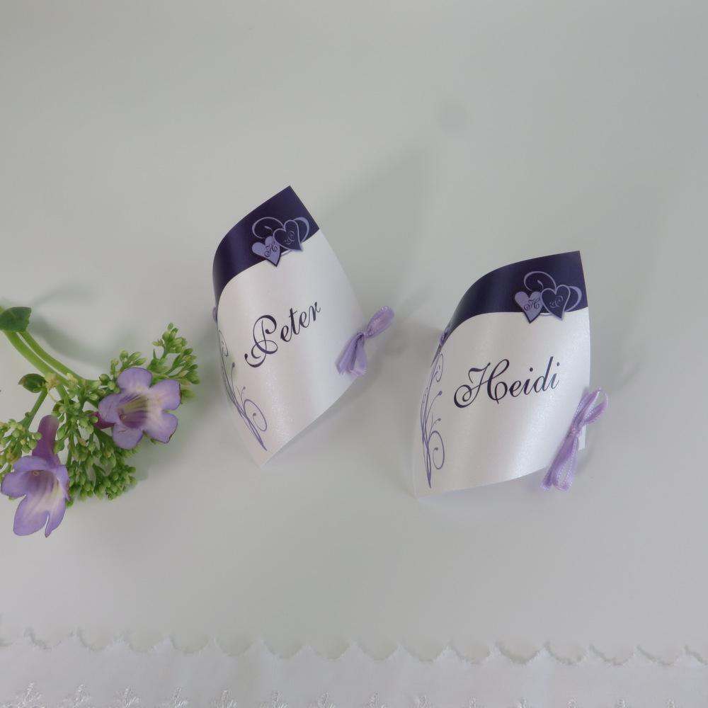 "Tischkarte ""Ti Amo"" lila"
