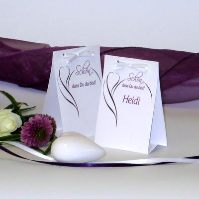"""Tischaufsteller """"Blüte"""" lila"""