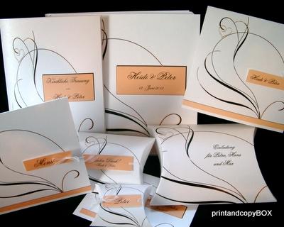 """Einladungskarte """"Apricot Traum"""""""