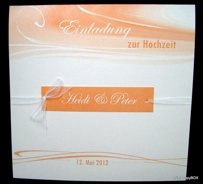 """Hochzeitseinladung """"Apricot Duett"""""""