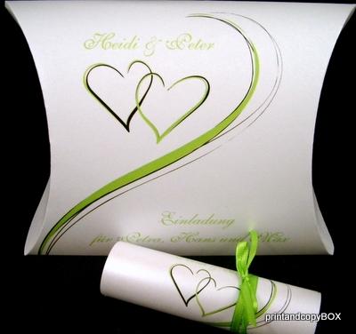"""Hochzeitseinladungsbox """"Harmonie grün"""""""