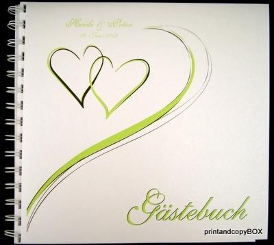"""Gästebuch """"Harmonie grün"""""""