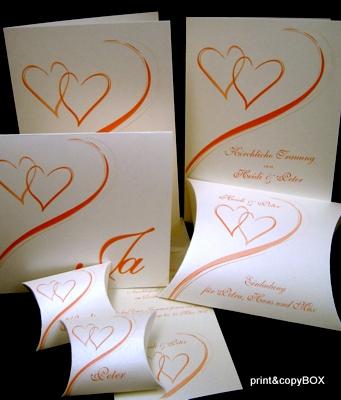 "Kartenset ""Harmonie orange"""