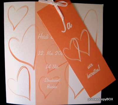 """Hochzeitseinladungskarte mit Pepp """"Moment"""""""