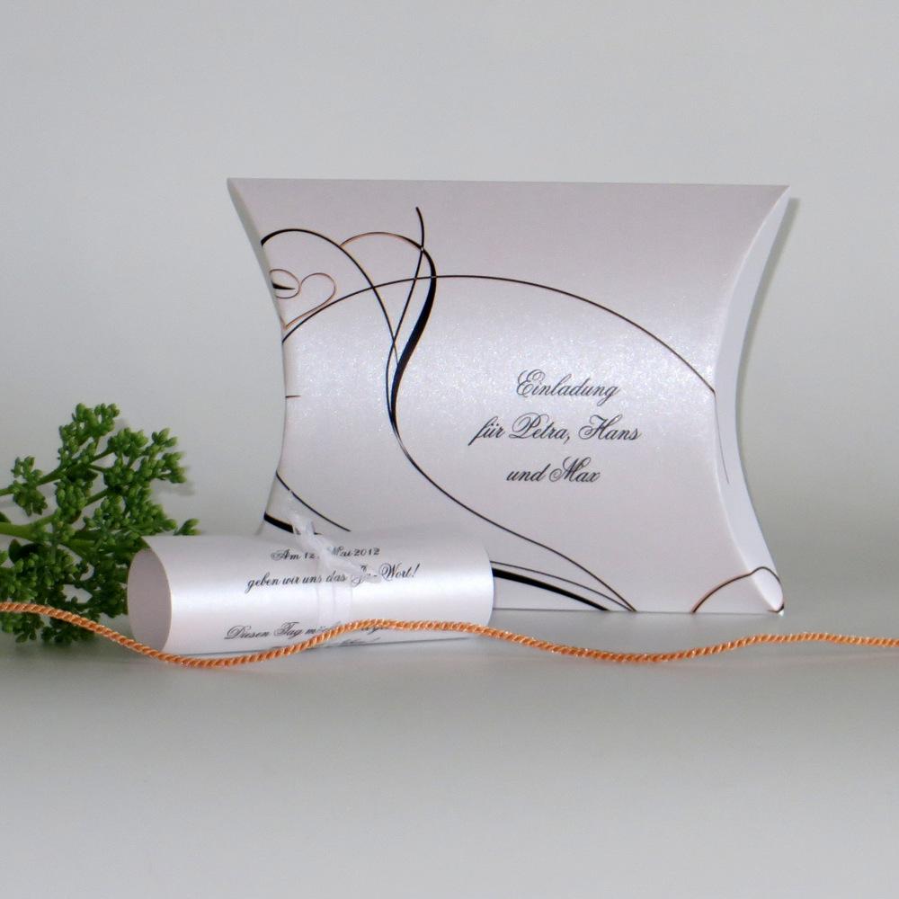 """Hochzeitseinladungsbox """"Apricot Traum"""""""