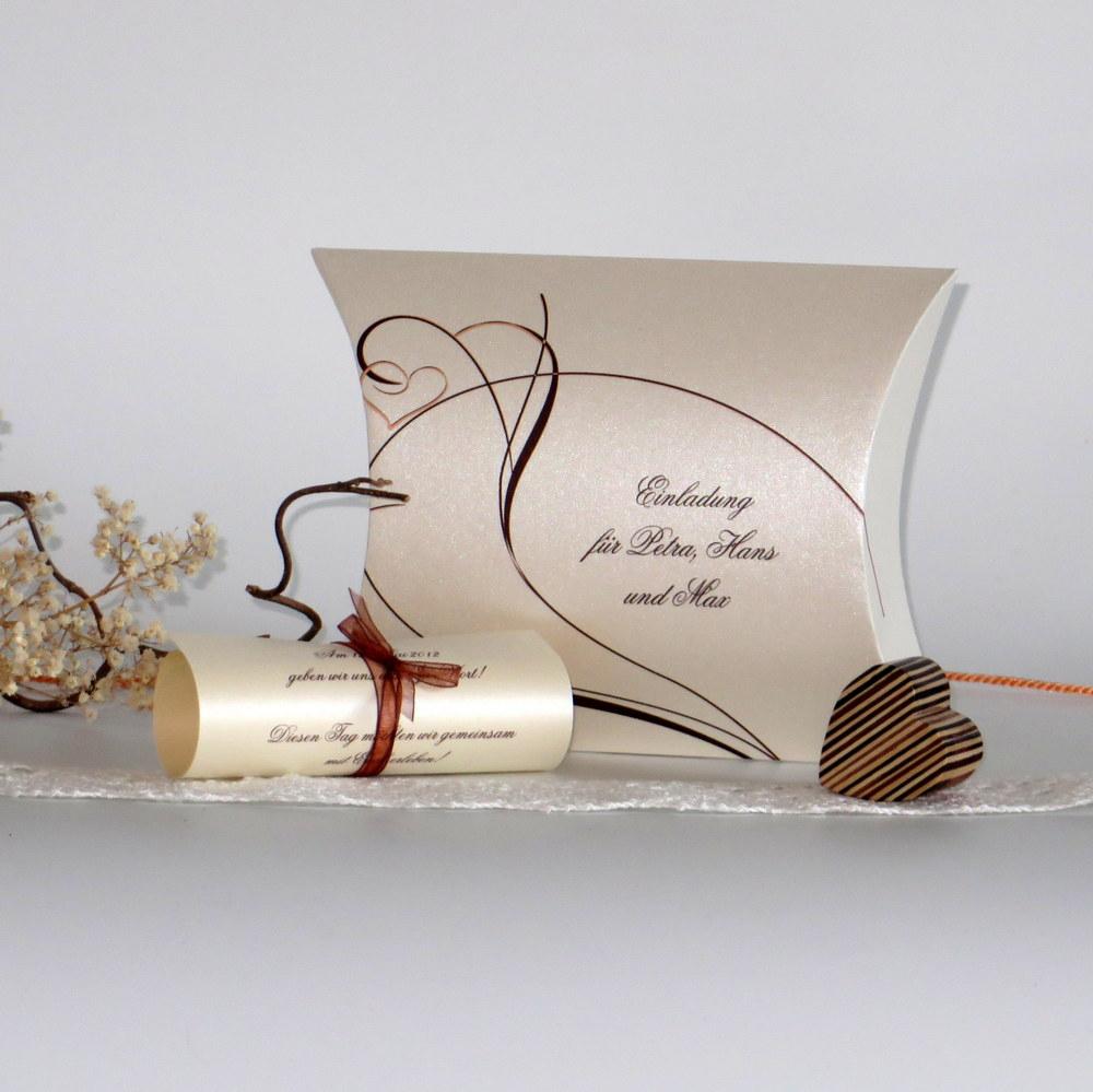 """Hochzeitseinladungsbox """"Moderne Ranke"""""""