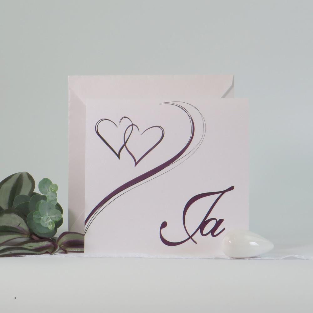 """Hochzeitseinladung """"Harmonie aubergine"""""""