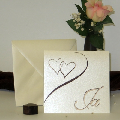 """Hochzeitseinladung """"Harmonie braun"""""""