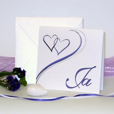 """Hochzeitseinladung """"Harmonie flieder"""""""