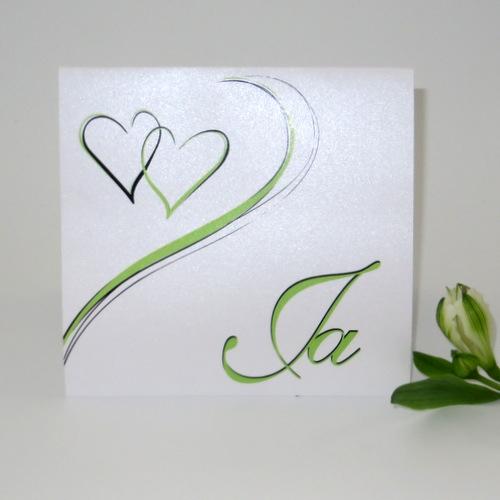 Hochzeitseinladung Harmonie in grün