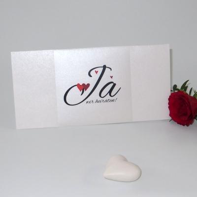 """Hochzeitseinladung """"Herzle"""" rot"""