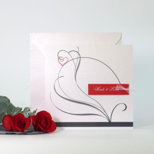 """Hochzeitseinladung """"Red Style"""""""