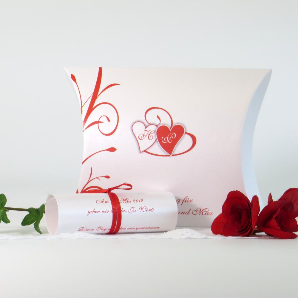 """Hochzeitseinladungsbox """"Ti Amo"""" rot"""