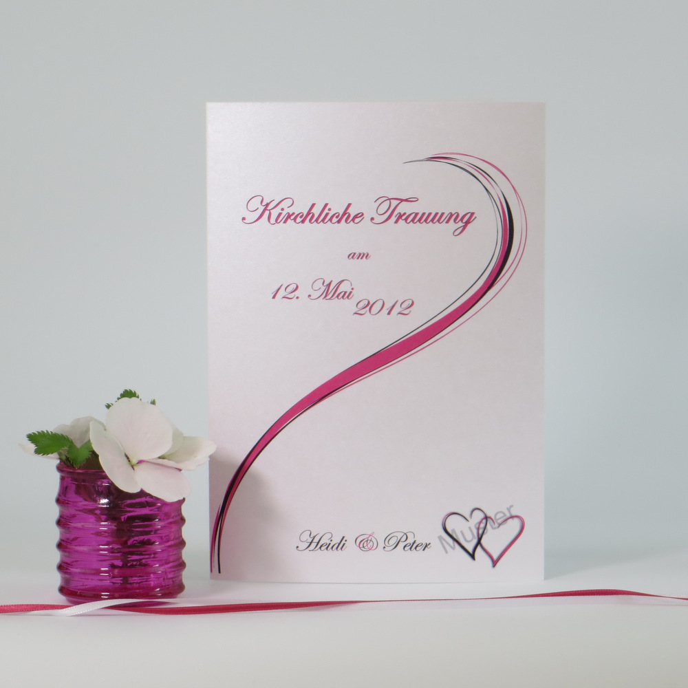 """Kirchenheftumschlag """"Poesie"""" pink"""