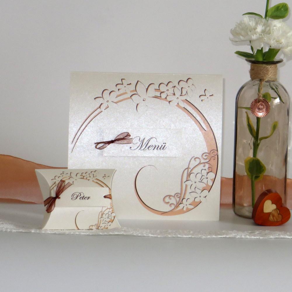 Gastgeschenk + Tischkarte