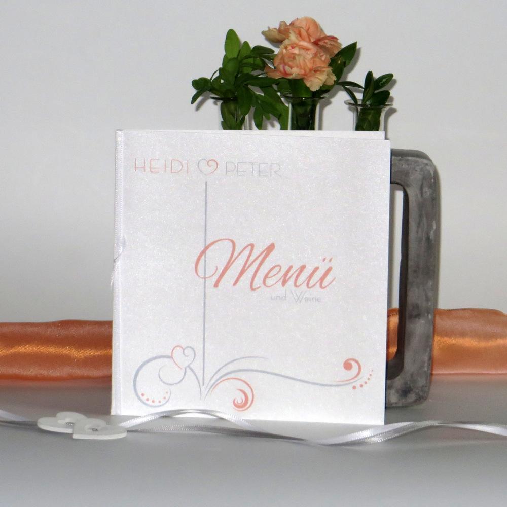 """Menükarte """"Design in apricot"""""""