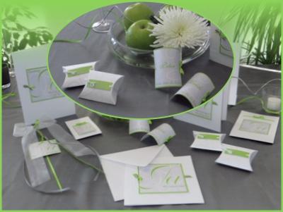 """Gestalten Sie Ihre Hochzeit mit tollen Papeterieartikel in grün und anthrazit und mit einem """"Ja"""", das mehr sagt als tausend Worte"""