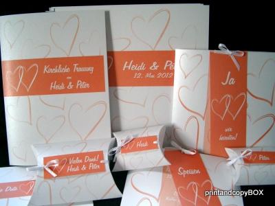 """Hochzeitskartenset """"Moment"""" on orange"""