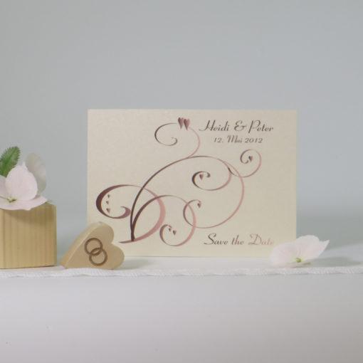 "Save the Date ""Farbflirt rose & braun"""