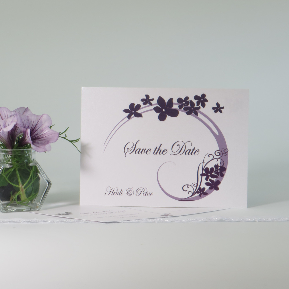 """Save the Date """"Flair"""" lila"""