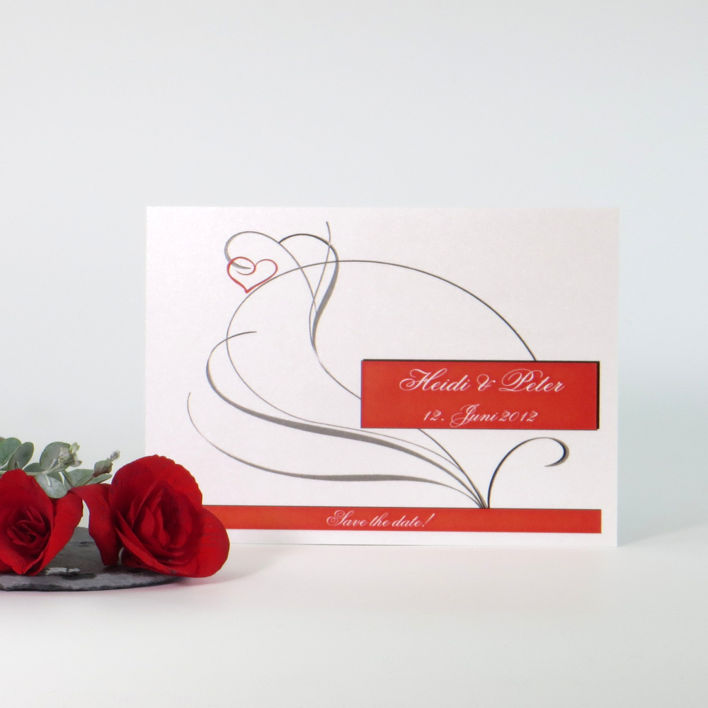"""Save the Date """"Red Style"""""""