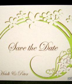 "Save the Date Flair"" braun-grün"