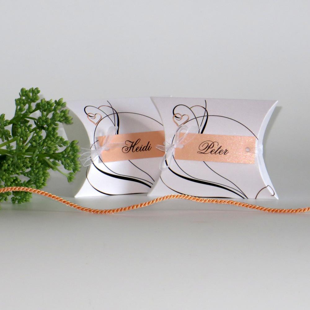 """Gastgeschenk + Tischkarte """"Apricot Traum"""""""