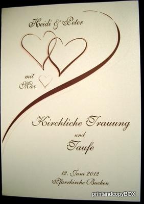 """Kirchenheftumschlag """"Harmonie"""" braun & creme"""