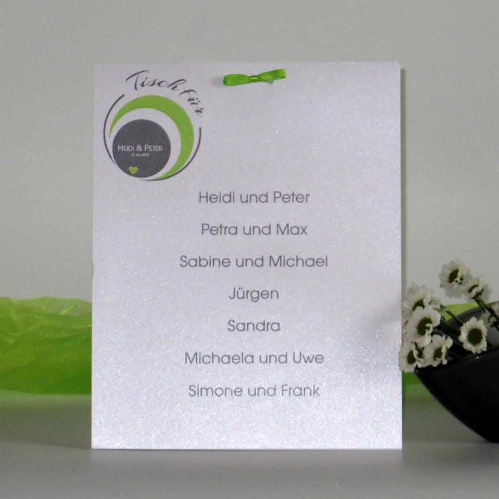 """Danksagung Fototasche """"Kreise"""" Grün Und Grau"""