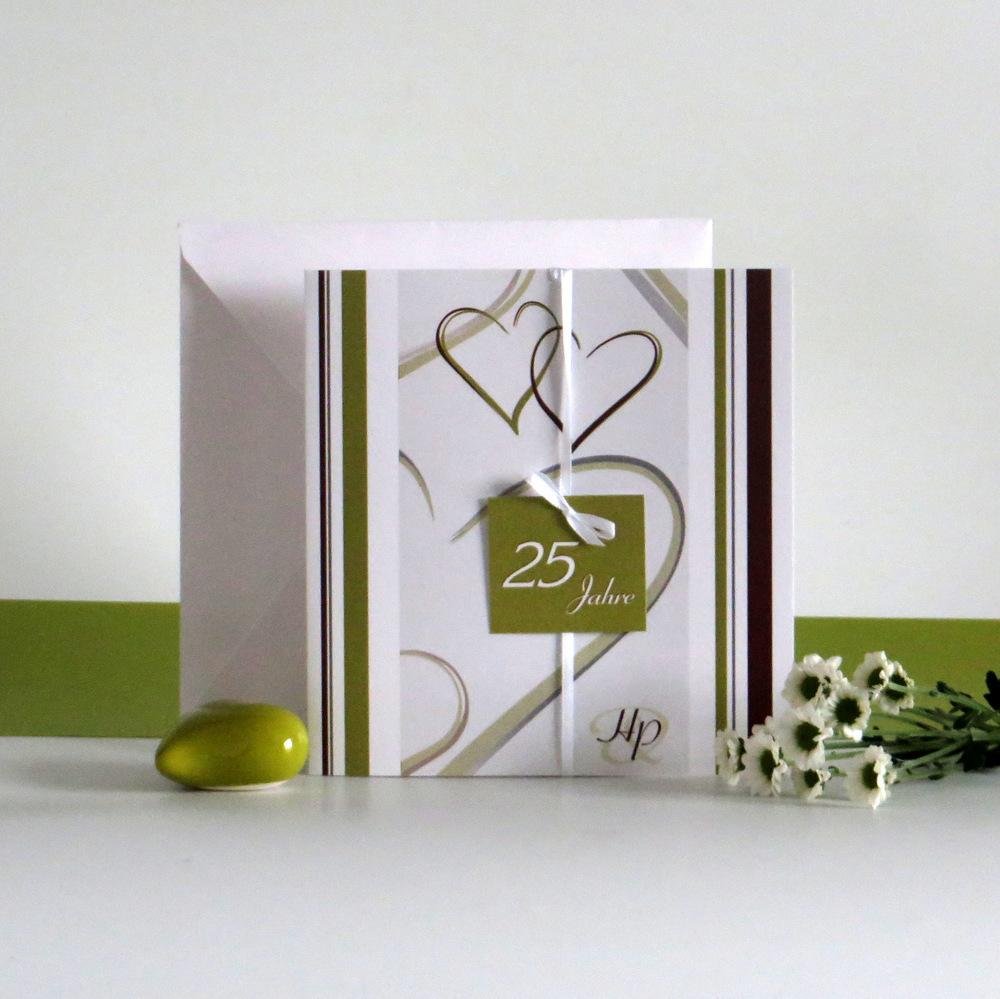 """""""25 Jahre - ich will"""" grün & braun"""
