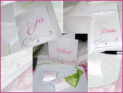 Besondere Hochzeitskarten im Set.