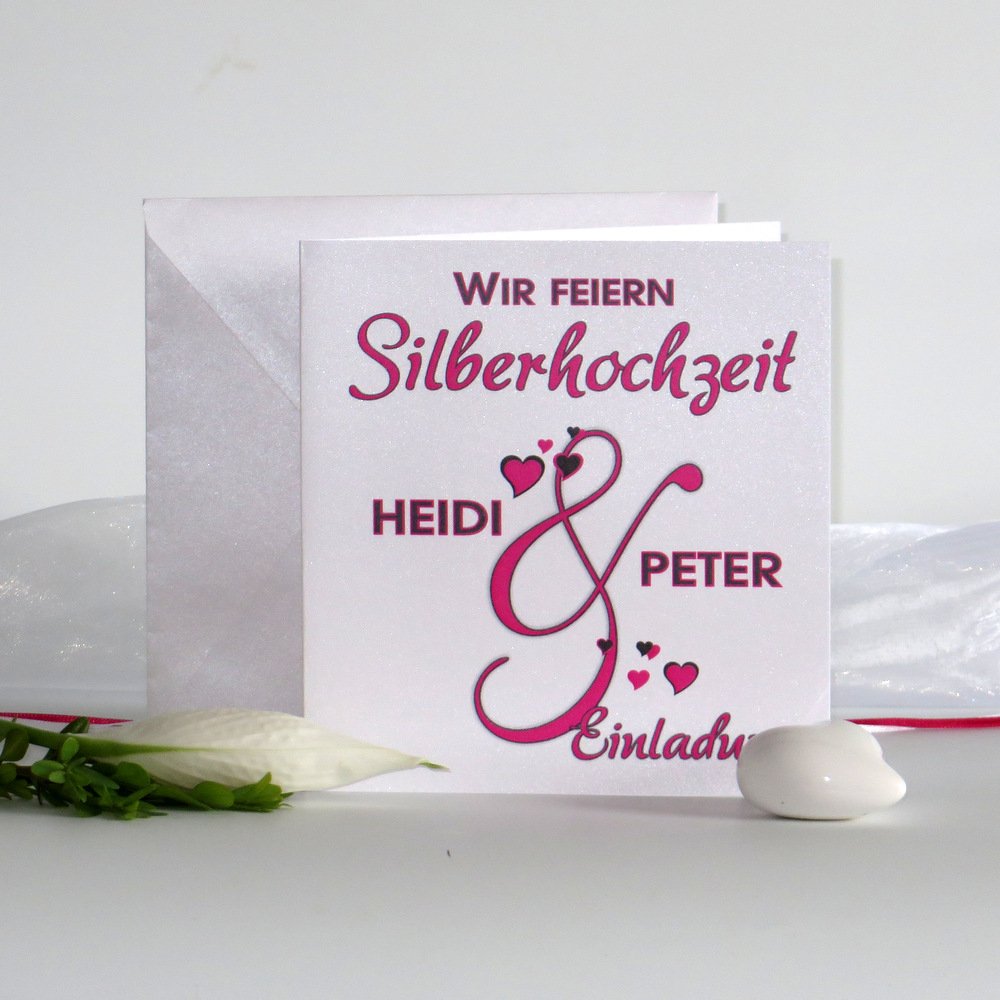 Melodie pink & grau Silberhochzeit