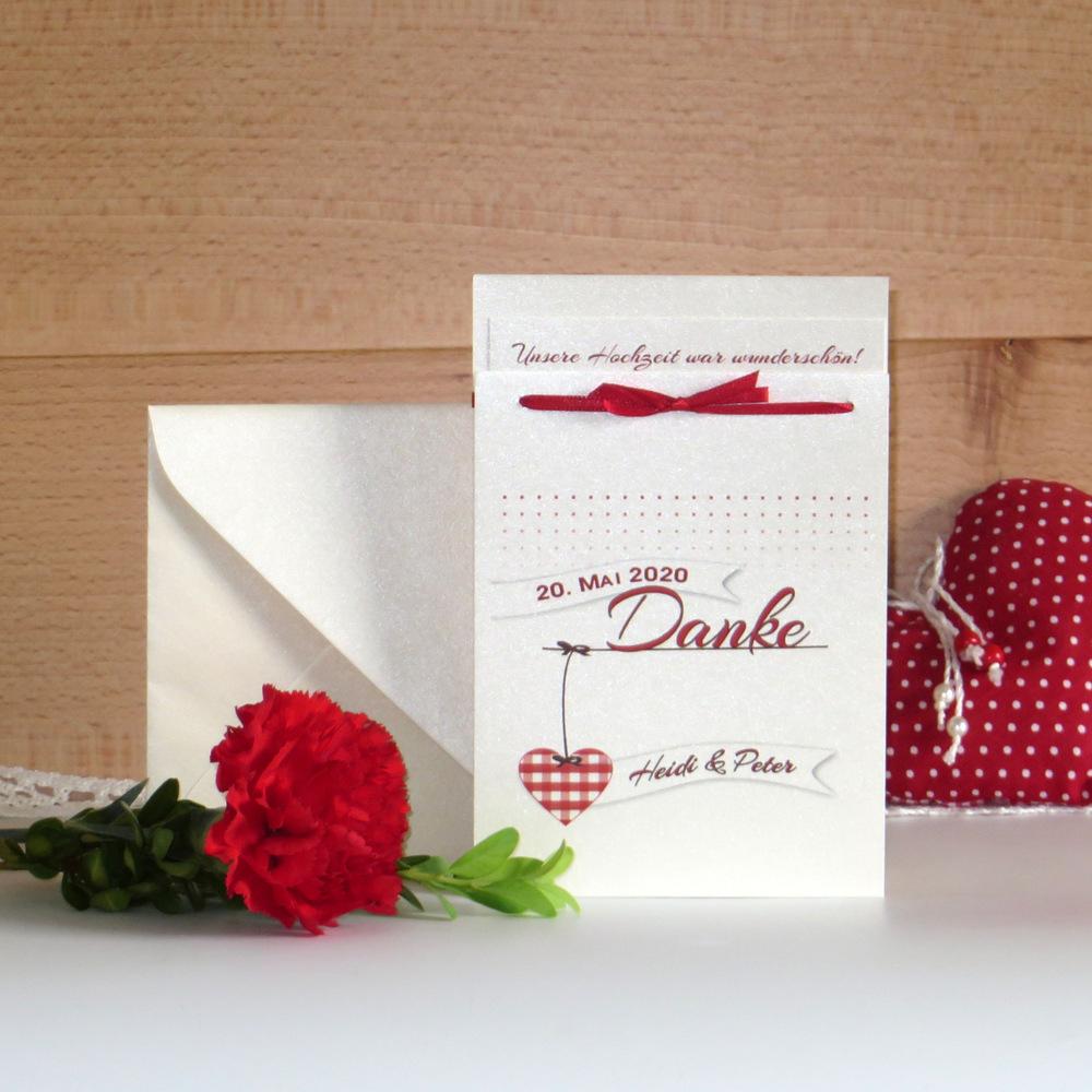 Dankeskarte für Hochzeitsfotos