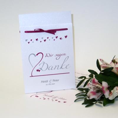 Für Fotos: Dankeskarte zur Hochzeit.