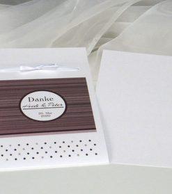 Großartige Danksagung Fototasche mit Einlageblatt. Zusätzlich können Sie noch Fotos von der Hochzeit beilegen