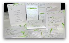 Herzblume grün & grau