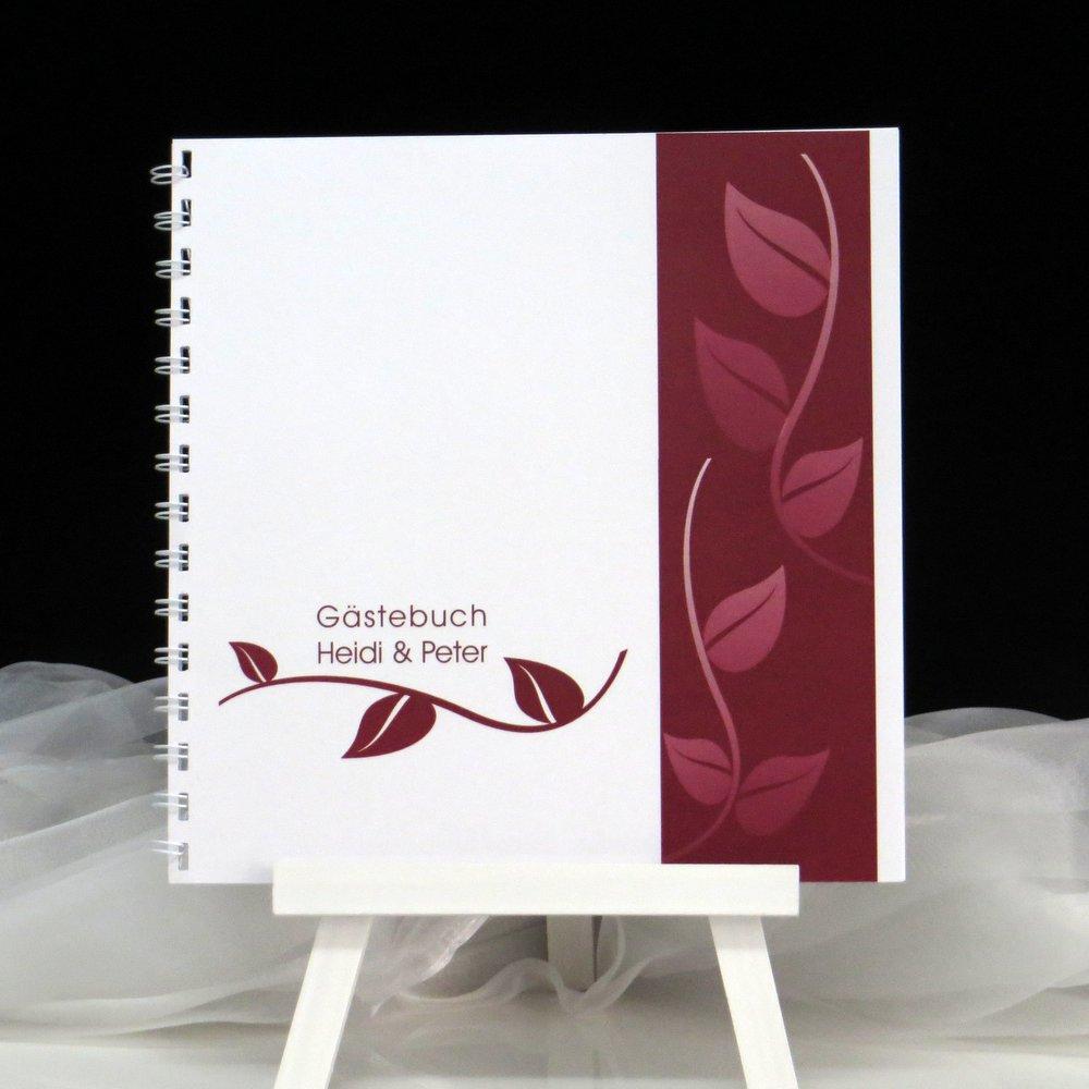 Gästebuch Blätter in rot