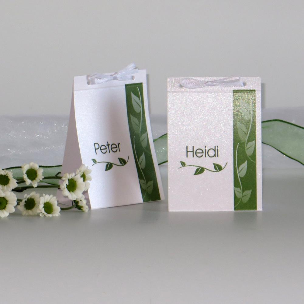 Blätter grün Silberhochzeit
