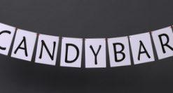 Hochzeitsgirlande für die Candybar