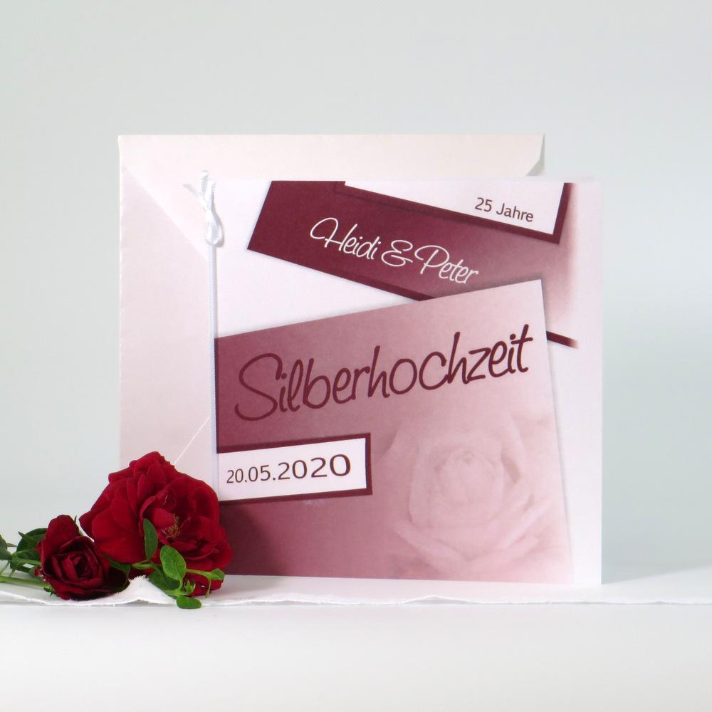 Rose rot Silberhochzeit