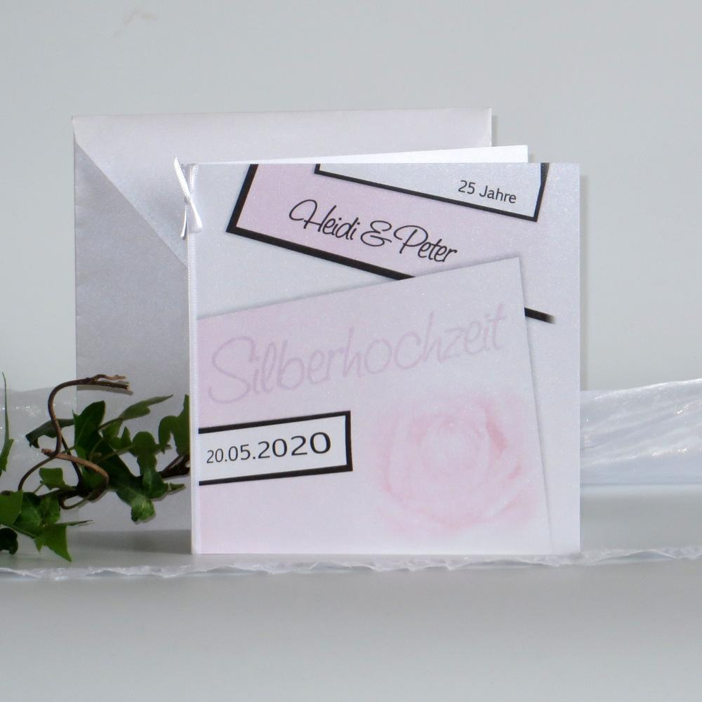 Rose rosa Silberhochzeit