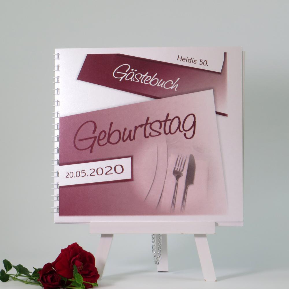 Einmalig tolles Gästebuch für eine unvergessliche Geburtstagsfeier in festlichem rot